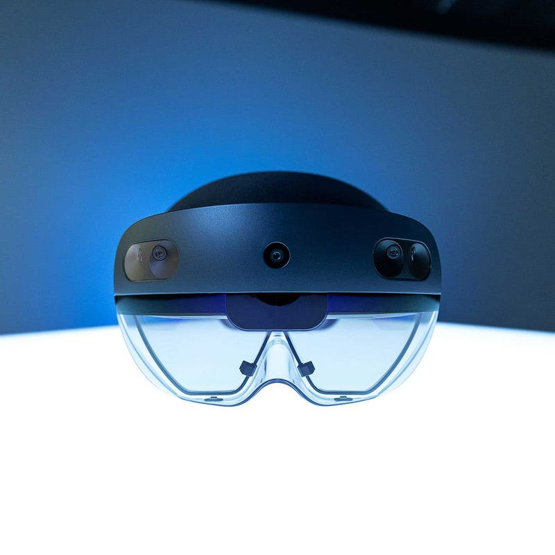Front image view of Microsoft Hololens 2