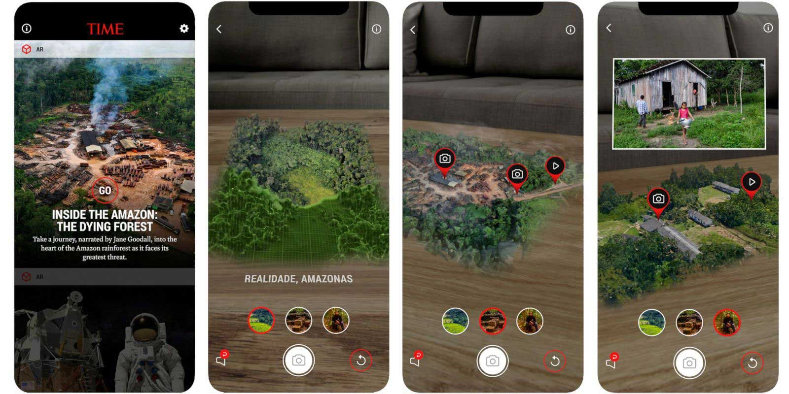 Here is a AR version of Spatial Journalism via mobile device. This is interactive on journalism where the user decides what they want to see.