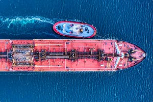 Large-scale maritime vessel.