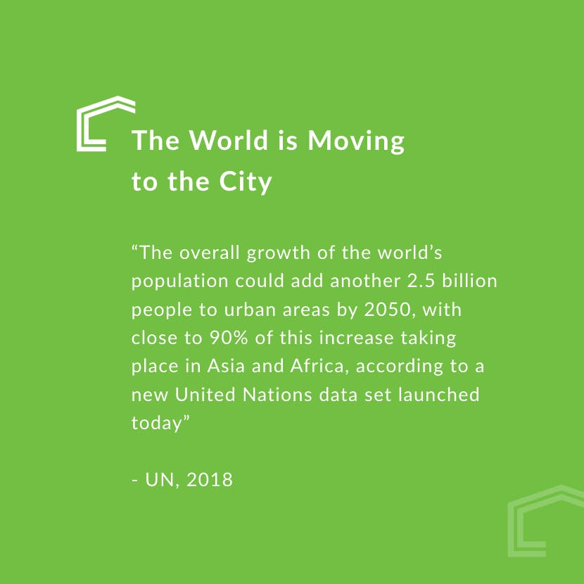 UN quote on urbanisation