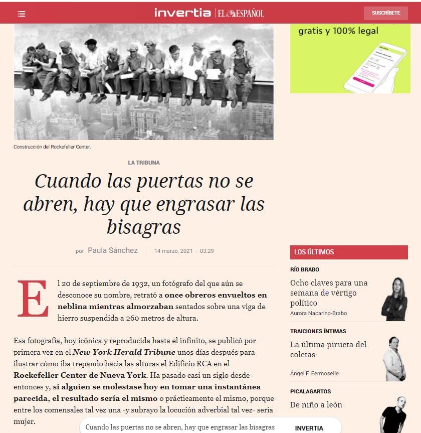 Artículo de Paula Sánchez, Ceo y Cofundadora de CoCircular en El Español