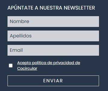 Formulario Newsletter CoCircular
