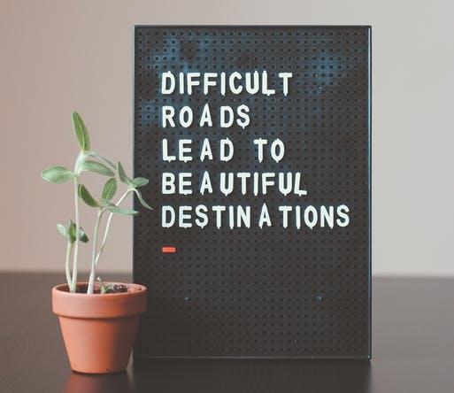image emphasizing that beautiful things are never easy to accomplish