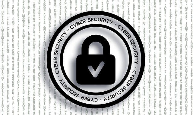 image displaying cyber security protection on a program
