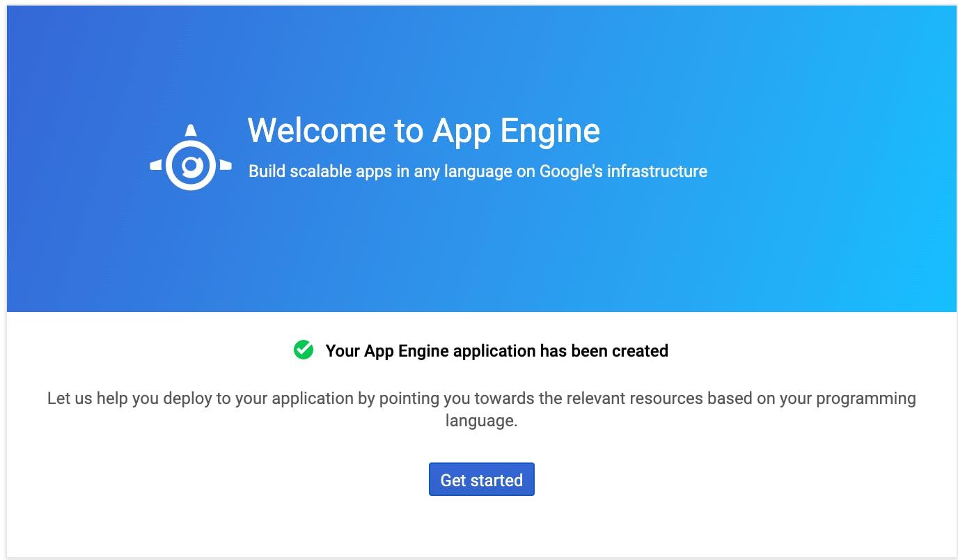Google App Engine new app created