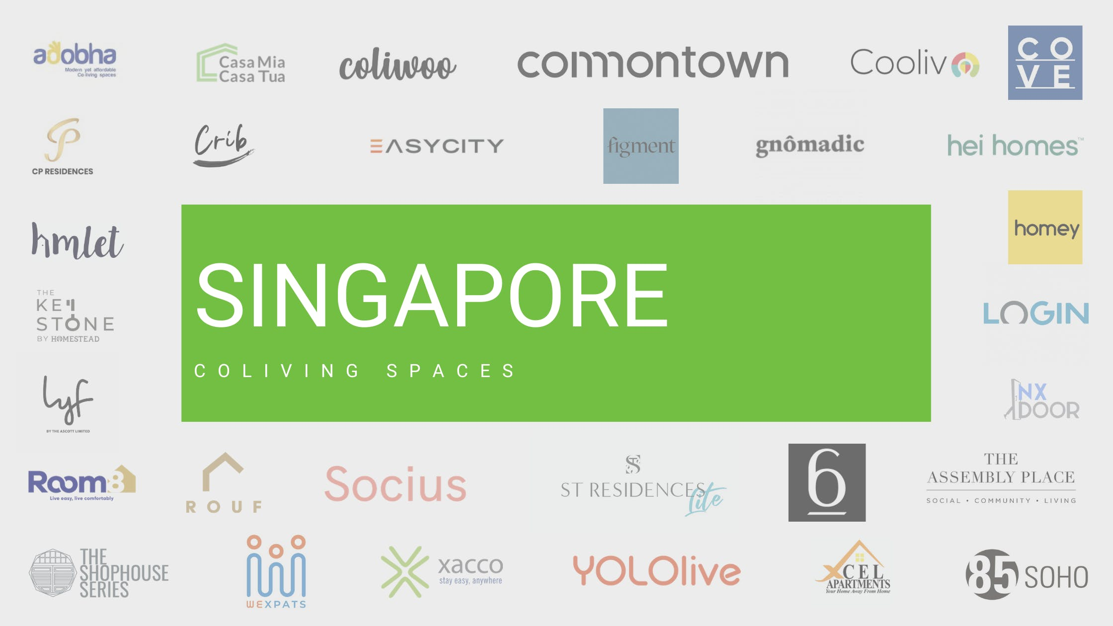 Logos of all Singapore coliving places