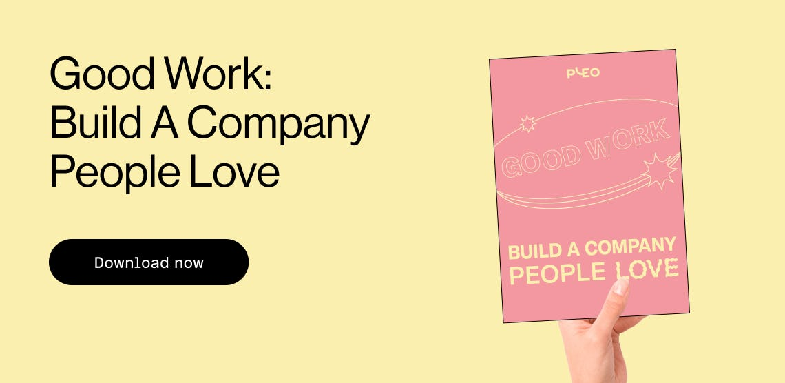 Download the Good Work: Build A Company People Love eBook