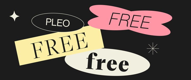 Banners for Pleo Free price plan