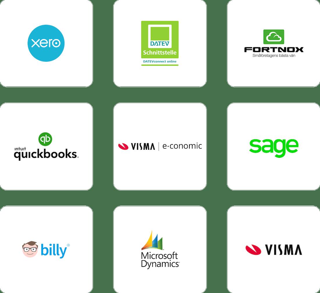 Pleo integriert in Ihre Buchhaltungssoftware
