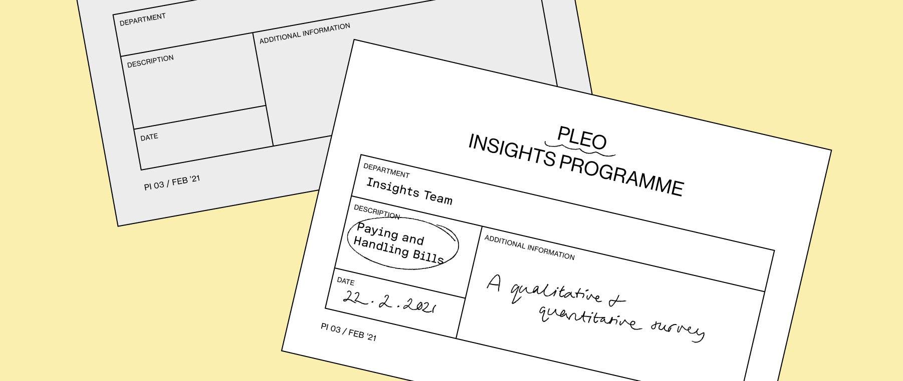 Pleo's invoice management report