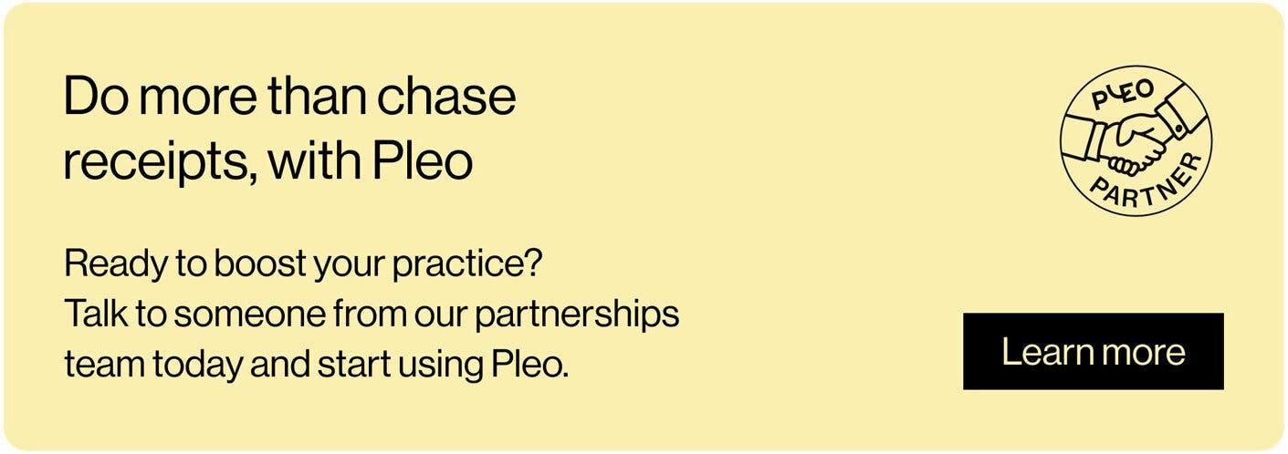 Pleo Partnerships Banner - UK