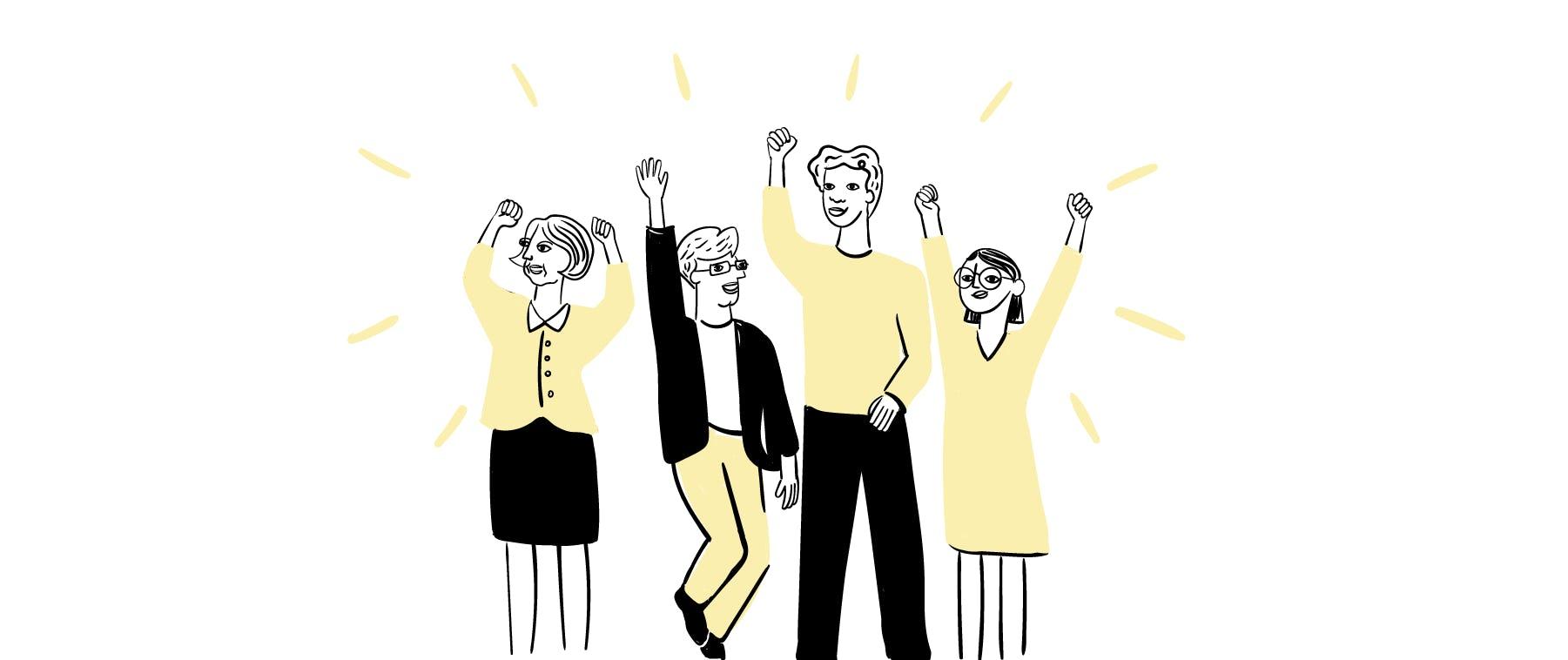 democratic-leadership-enthusiasm-team-pleo-blog