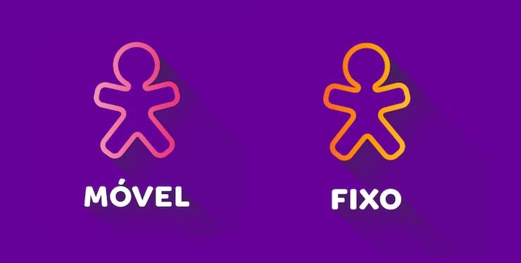 Logomarcas dos apps Meu Vivo Móvel e Meu Vivo Fixo