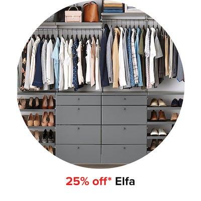 25% off* Elfa