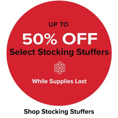 Up to 50% Off Select Stocking Stuffers