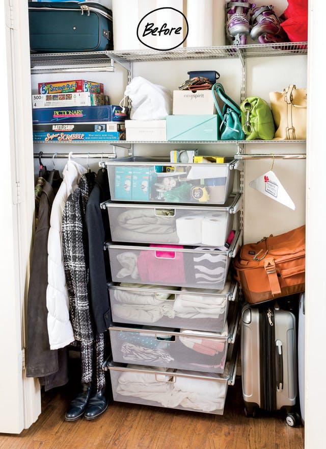 Closet Organization Ideas A Catch All Closet Finds Its