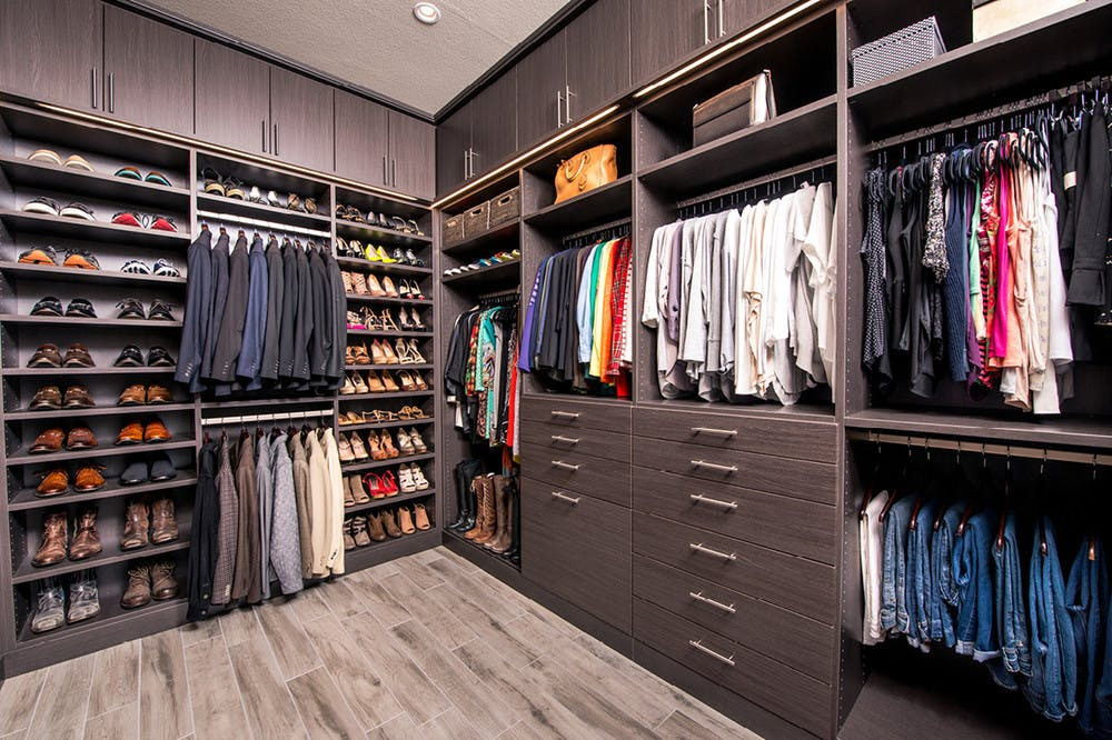 A Laren Custom Closet For Two In Houston Container Stories