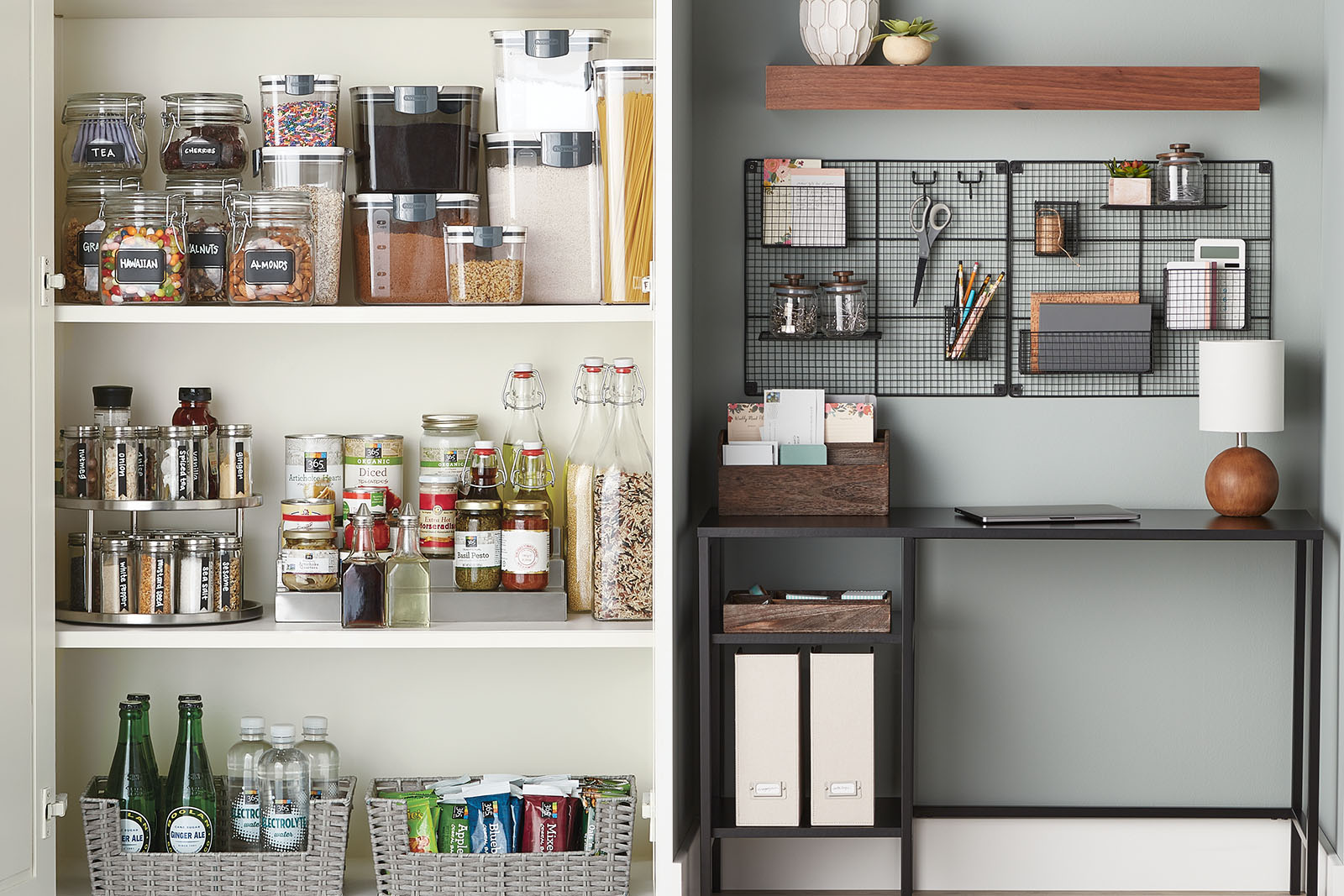 Kitchen Office Goals Getting Set Up To Work From Home Container Stories