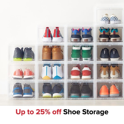 Up to 25% off Shoe Storage
