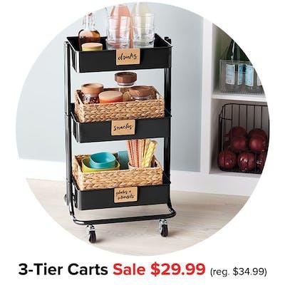3-Tier Carts Sale $29.99