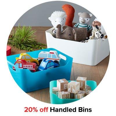20% off Handled Bins