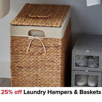 25% off Laundry Hampers & Baskets