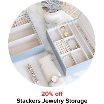 20% off Stackers Jewelry Storage