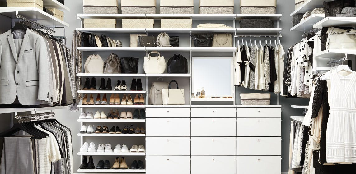 elfa Custom Closet Shelving, Organizer Systems & Custom ...