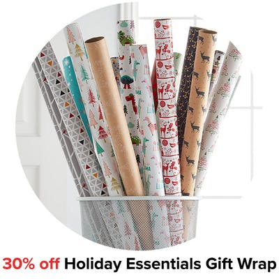 30% off Holiday Essentials Gift Wrap
