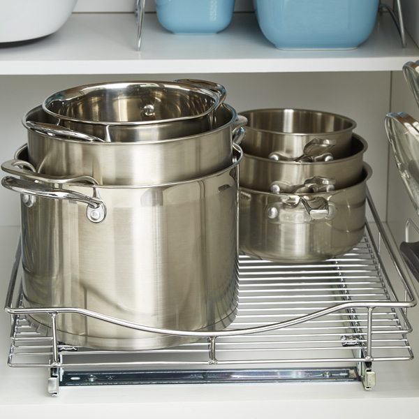 Step 4: Organize Pots, Pans, Lids, Food Storage Containers and Baking Sheets