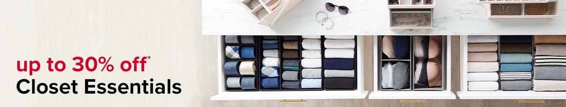 up to 30% off Closet Essentials