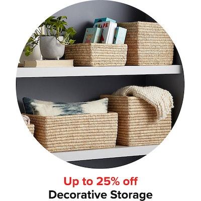 Up to 25% off Decorative Storage
