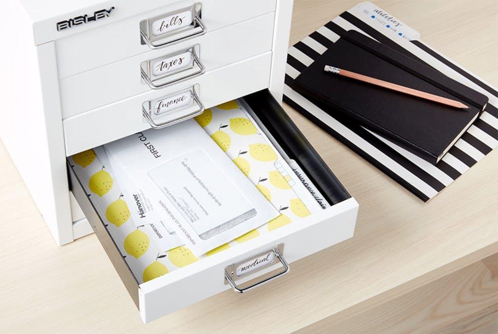 Bisley 5-Drawer File Cabinet