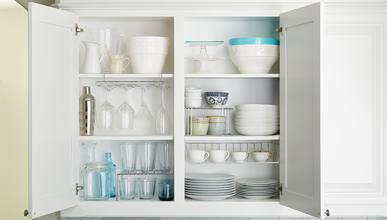 How To Organize Upper Kitchen Cabinets