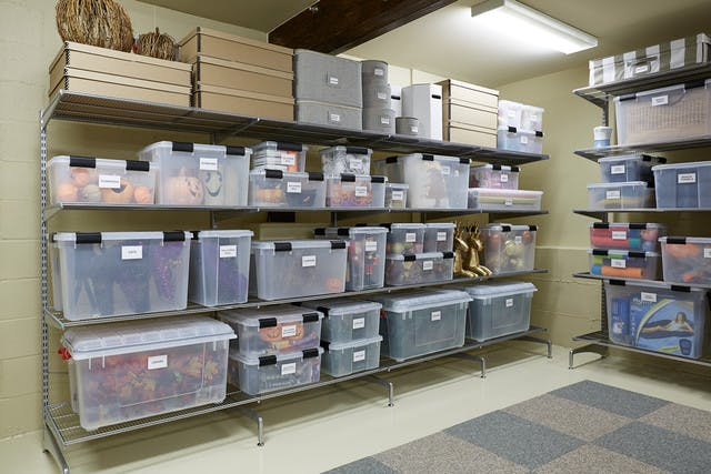 Basement Storage Ideas Organizing A Texas Sized Basement Container Stories