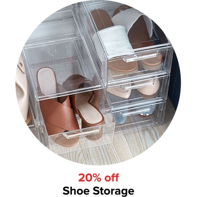20% off Shoe Storage