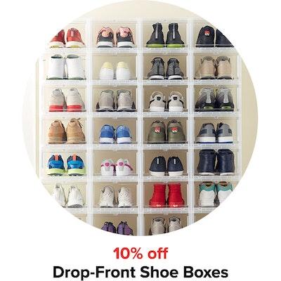 10% off Drop-Front Shoe Boxes