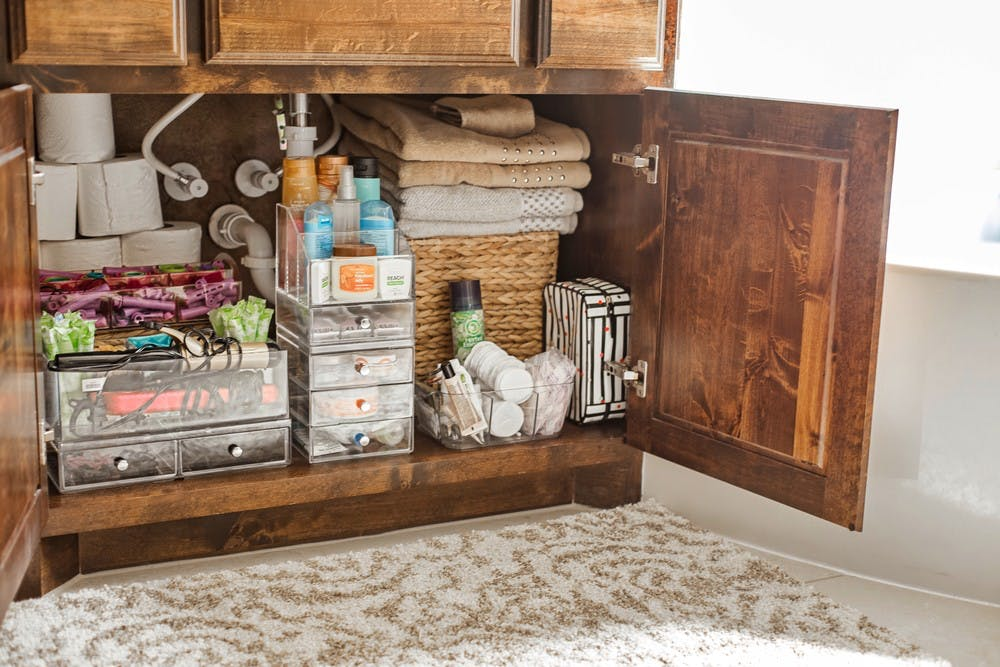 Organize Your Bathroom Sink Area Like A Professional Container Stories,Mint And Lavender Color Scheme