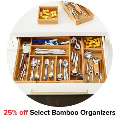 25% off Select Bamboo Organizers