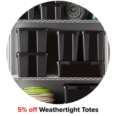 5% off Weathertight Totes