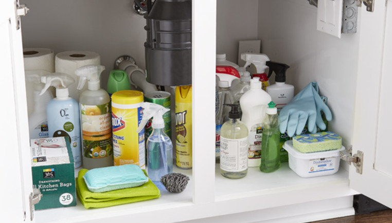 How To Organize Under A Kitchen Sink