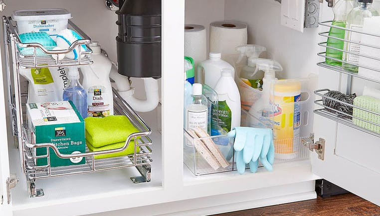 Kitchen Sink Organization Ideas How To Organize A Kitchen Sink The Container Store