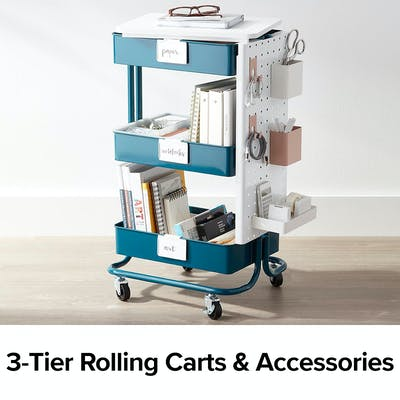3-Tier Rolling Carts & Accessories