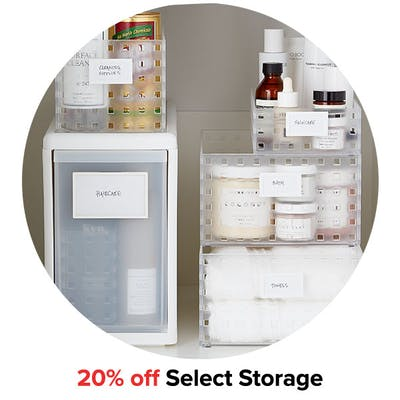 20% off Select Storage