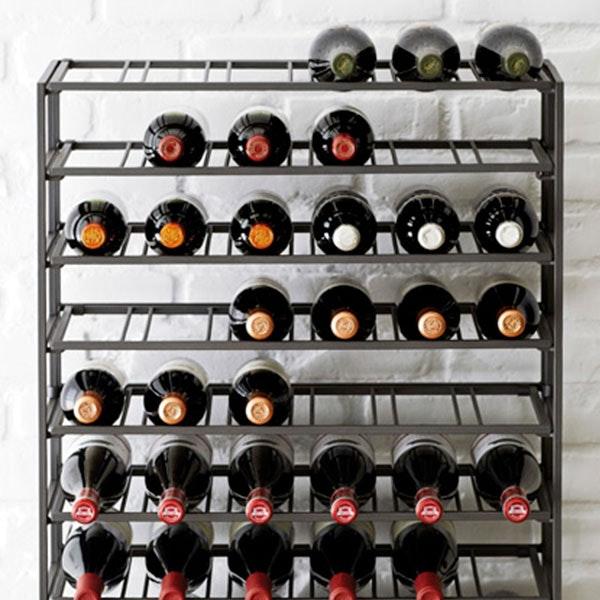 54-Bottle Iron Folding Wine Rack