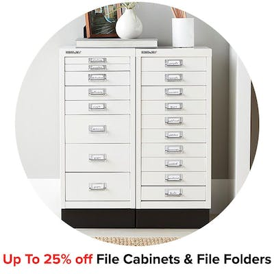 Up To 25% off File Cabinets & File Folders