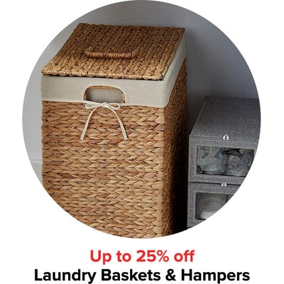 Up to 25% off Laundry Baskets & Hampers