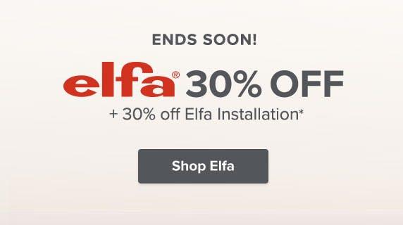 30% Off Elfa*