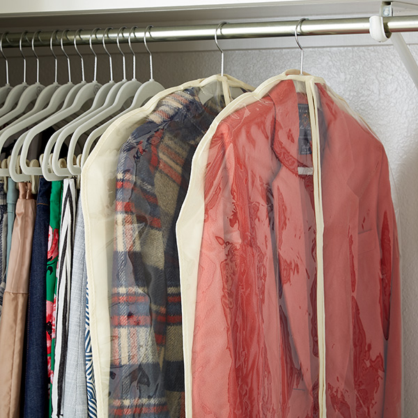 Step 6: Storing Hanging Clothes