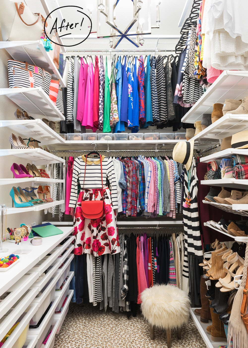 A Master Closet Makeover Fit For A Fashionista Container